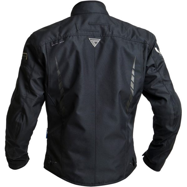Lindstrands Zagreb Textile Waterproof Motorcycle Jacket Black