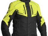 Lindstrands Halden Textile Motorcycle Jacket Black Yellow