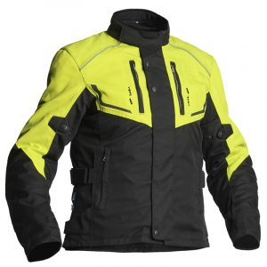 Lindstrands Halden Textile Motorcycle Jacket Black Yellow