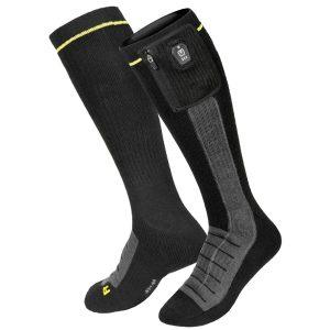 Macna Lava Heated Motorcycle Socks Black Yellow