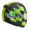 Arai Profile V Motorcycle Helmet Patch Fluorescent Yellow