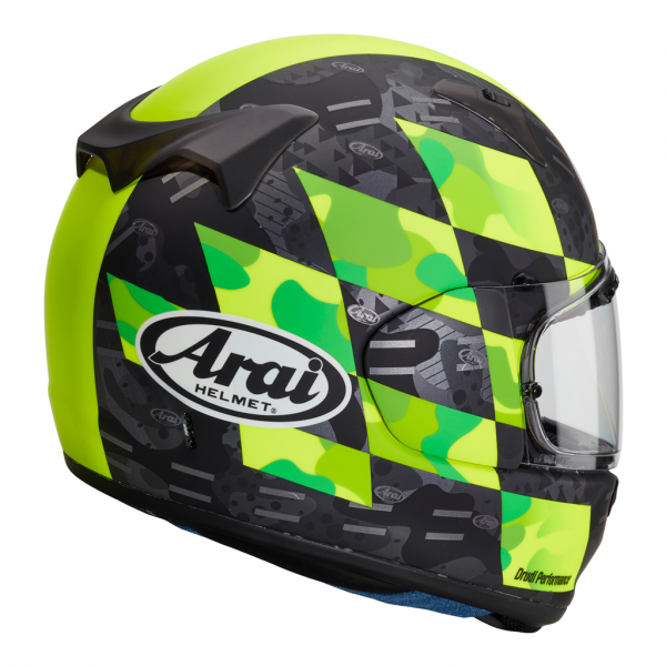 Arai Profile V Motorcycle Helmet Patch Fluorescent Yellow