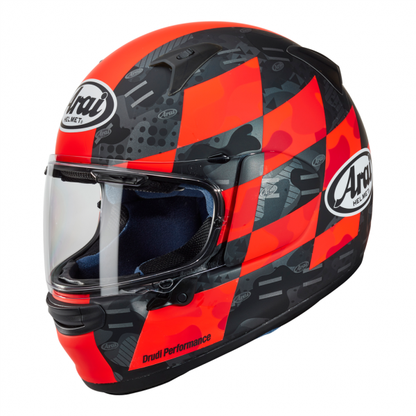 Arai Profile V Patch Red Motorcycle Helmet