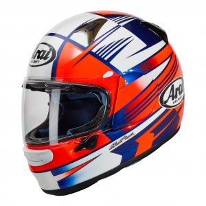 Arai Profile V Motorcycle Helmet Rock Blue and Red