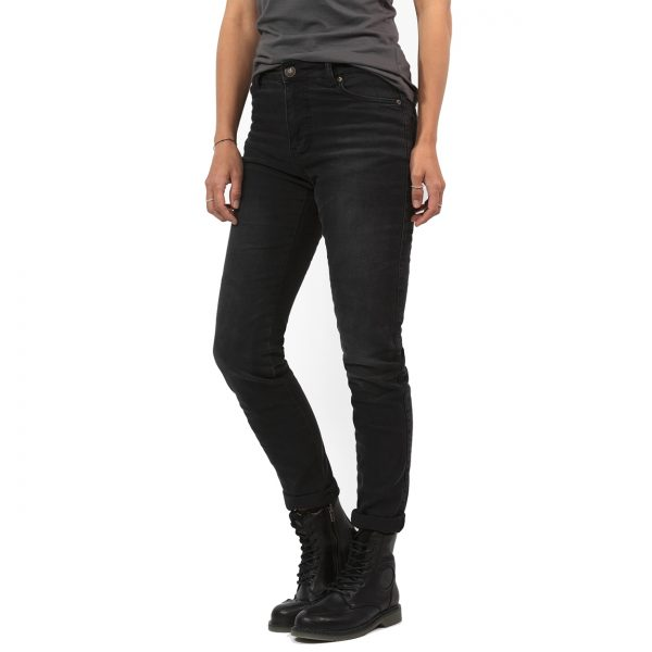 John Doe Betty High Black XTM Ladies Short Leg Motorcycle Jeans