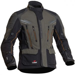 Halvarssons Mora Textile Motorcycle Jacket Black Green