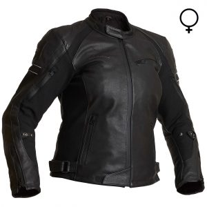 Halvarssons Risberg Ladies Waterproof Leather Motorcycle Jacket