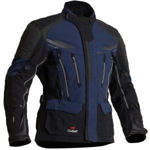 Halvarssons Mora Textile Motorcycle Jacket Black Blue