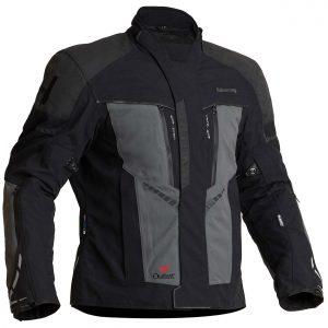 Halvarssons Vansbro Laminated Motorcycle Jacket Black Grey