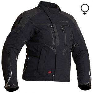 Halvarssons Vimo Ladies Laminate Motorcycle Jacket Black