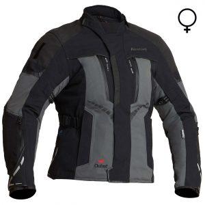 Halvarssons Vimo Ladies Laminate Motorcycle Jacket Black Grey