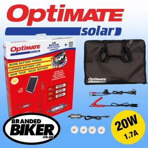 Optimate Solar Panel Battery Charger 20W with Travel Kit