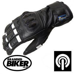 Lindstrands Backa Waterproof Leather Motorcycle Gloves