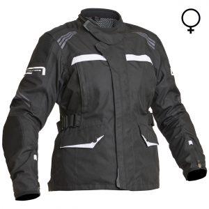 Lindstrands Granberg Lady Laminated Motorcycle Jacket Black White