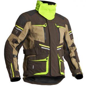 Lindstrands Sunne Laminate Motorcycle Jacket Brown Yellow