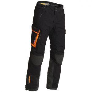 Lindstrands Sunne Pants Laminate Motorcycle Trousers Black Orange