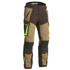 Lindstrands Sunne Pants Laminate Motorcycle Trousers Brown Yellow