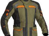 Lindstrands Transtrand Laminated Motorcycle Jacket Green Orange