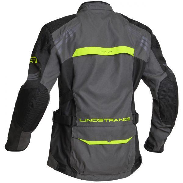 Lindstrands Transtrand Laminated Motorcycle Jacket Grey Yellow