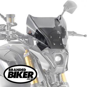 Givi 1173S Motorcycle Screen Yamaha MT09 2021 on Smoke