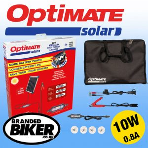 Optimate Solar Panel Battery Charger 10W with Travel Kit
