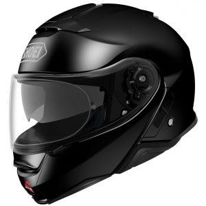 Shoei Neotec 2 Motorcycle Helmet Plain Gloss Black